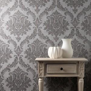 crown_tulsa_damask_charcoal_glitter_metallic_wallpaper_-_m1533_room